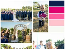 Jaime and Nick wedding collage