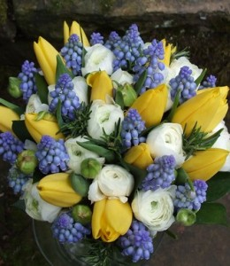 Spring-Wedding-Flowers_Tulips_GrapeHyacinth_Ranunculas